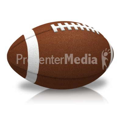Single Football Presentation clipart