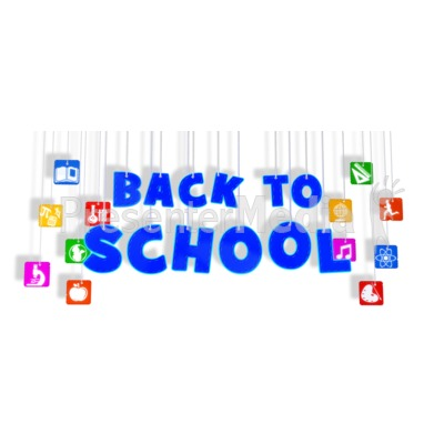 Back To School Hanging With Icons Presentation clipart