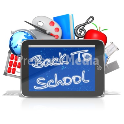Back To School Tablet Presentation clipart