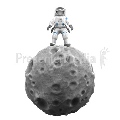 Astronaut On Asteroid Presentation clipart
