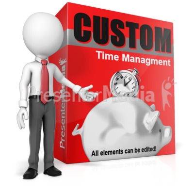 Presenting Custom Software Box Presentation clipart