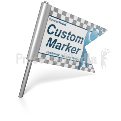 Custom Flag Pin Presentation clipart