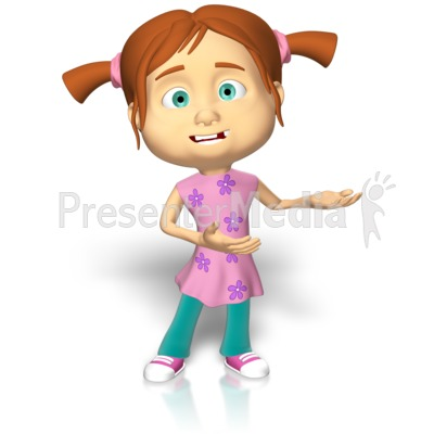 Young Girl Presenting Presentation clipart