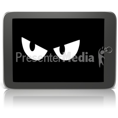 Black Tablet Spy Watching Presentation clipart