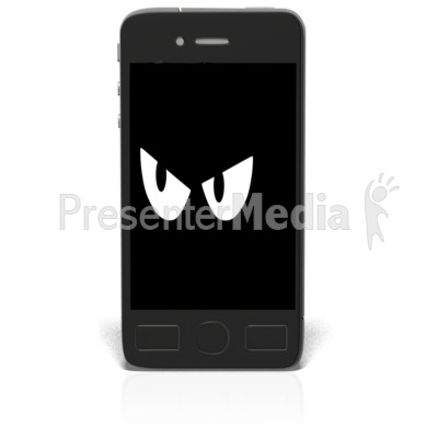 Black Smartphone Spy Watching Presentation clipart