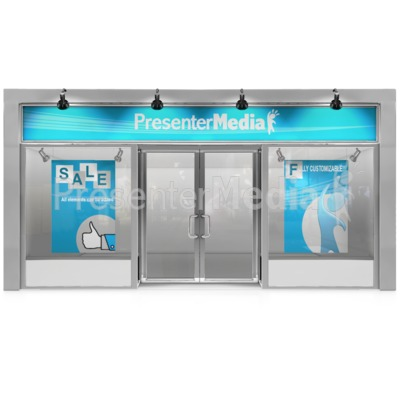 Glass Store Front Presentation clipart