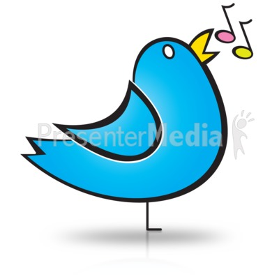 Bird Song Notes Presentation clipart