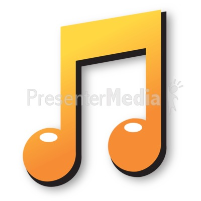 Colored Music Note Presentation clipart