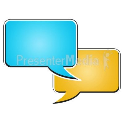 Two Rectangle Bubble Chat Presentation clipart