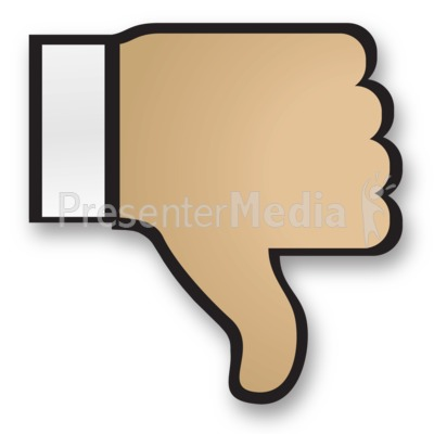 Hand Thumbs Down Cuff Presentation clipart