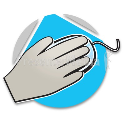 Hand On Mouse Icon Presentation clipart