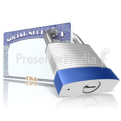 Secured Social Security Presentation clipart