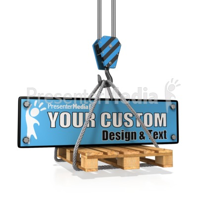 Hook Carry Construction Plate Custom Presentation clipart