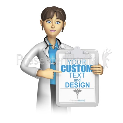 Doctor or Nurse Present Custom Clipboard Presentation clipart