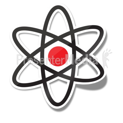 Atom Icon Sticker Presentation clipart
