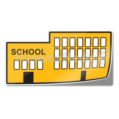 School Icon Sticker Presentation clipart
