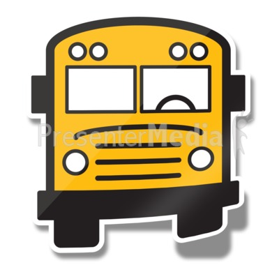 School Bus Icon Sticker Presentation clipart