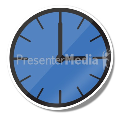 Clock Icon Sticker Presentation clipart