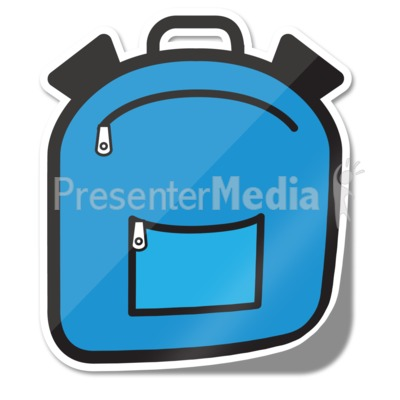 Backpack Icon Sticker Presentation clipart