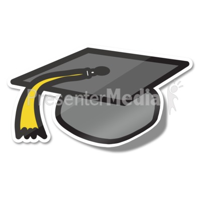 Graduation Hat Icon Sticker Presentation clipart