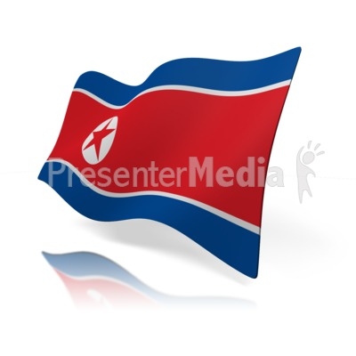 North Korea Flag Presentation clipart