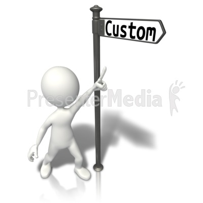 Street Sign Stick Figure Custom Presentation clipart