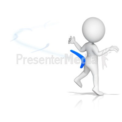 Figure Hit by Own Boomerang Presentation clipart