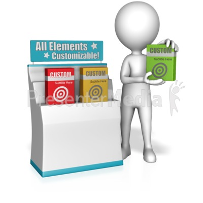 Figure Selling Product Boxes Presentation clipart