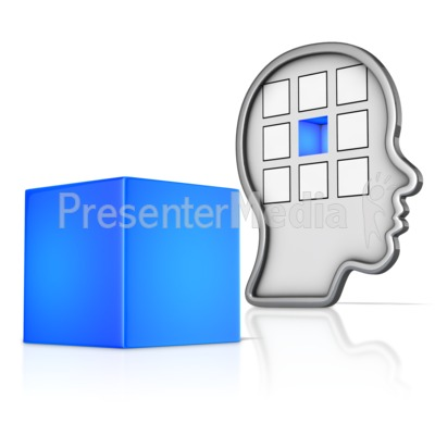 Outline Head with Missing Piece Presentation clipart