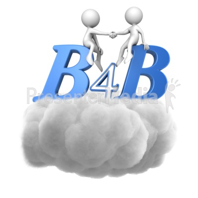 B4B Handshake In Cloud Presentation clipart
