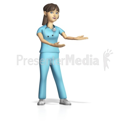 Female Nurse Presenting Gesture Presentation clipart