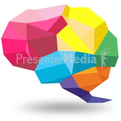 Creative Shaped Brain Presentation clipart