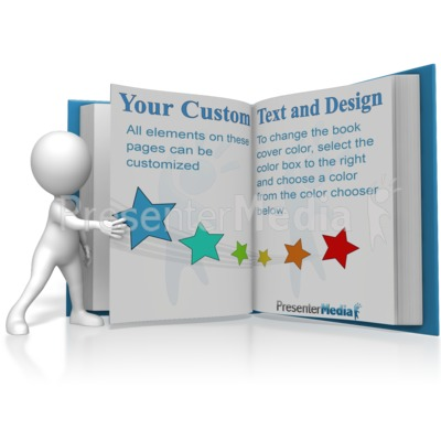 Figure Turning A Custom Page Presentation clipart