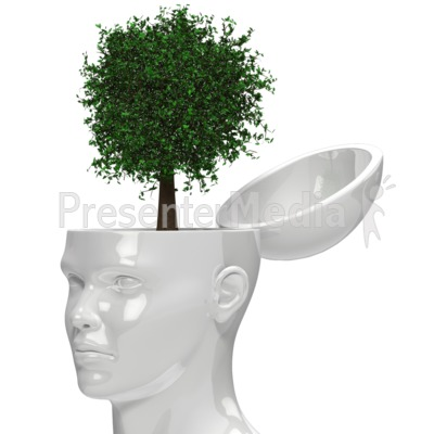 Tree Growing Out Of Head Presentation clipart