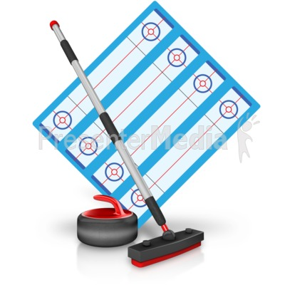 Curling Field Equipment Presentation clipart