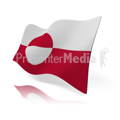 Greenland Flag Presentation clipart