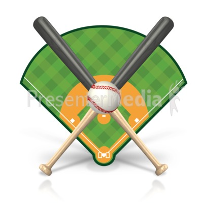 Baseball Field Icon Presentation clipart
