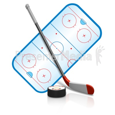 Ice Hockey Playing Field Presentation clipart