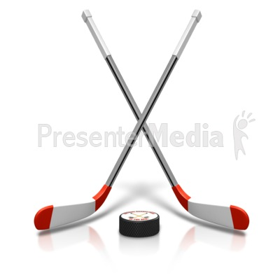 Ice Hockey Sticks Puck Presentation clipart