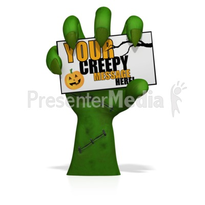 Creepy Hand Holding Card Custom Presentation clipart