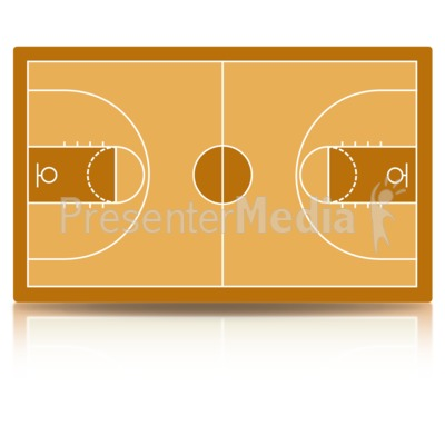 Basketball Court Presentation clipart