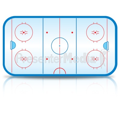 Ice Hockey Rink Presentation clipart