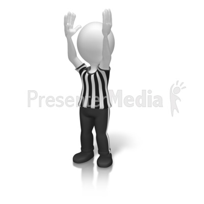 Referee Touchdown Signal Presentation clipart