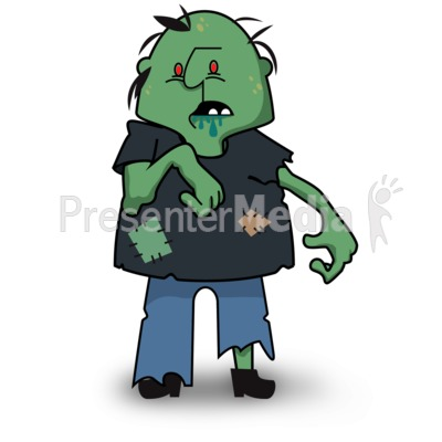 Scary Zombie Look Presentation clipart