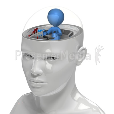 Figure In Control Of Mind Presentation clipart