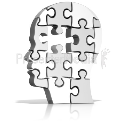 Head Puzzle Missing Piece Presentation clipart