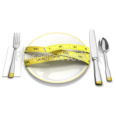 Tape Measure Around Plate Presentation clipart