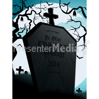 Halloween Tombstone Presentation clipart