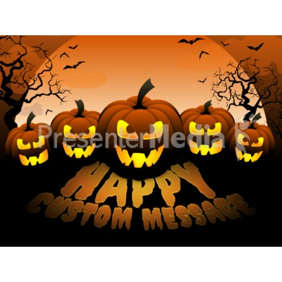 Scary Pumpkins Presentation clipart