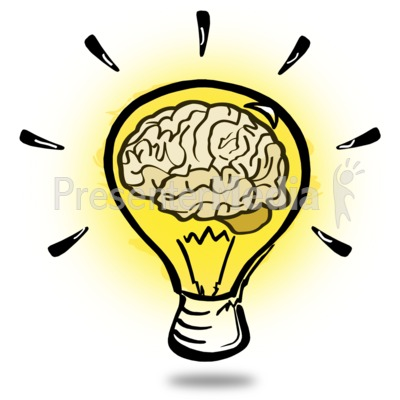 Brainy Light Bulb Presentation clipart